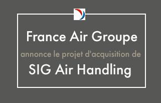 Le Groupe France Air annonce le projet d'acquisition de SIG Air Handling